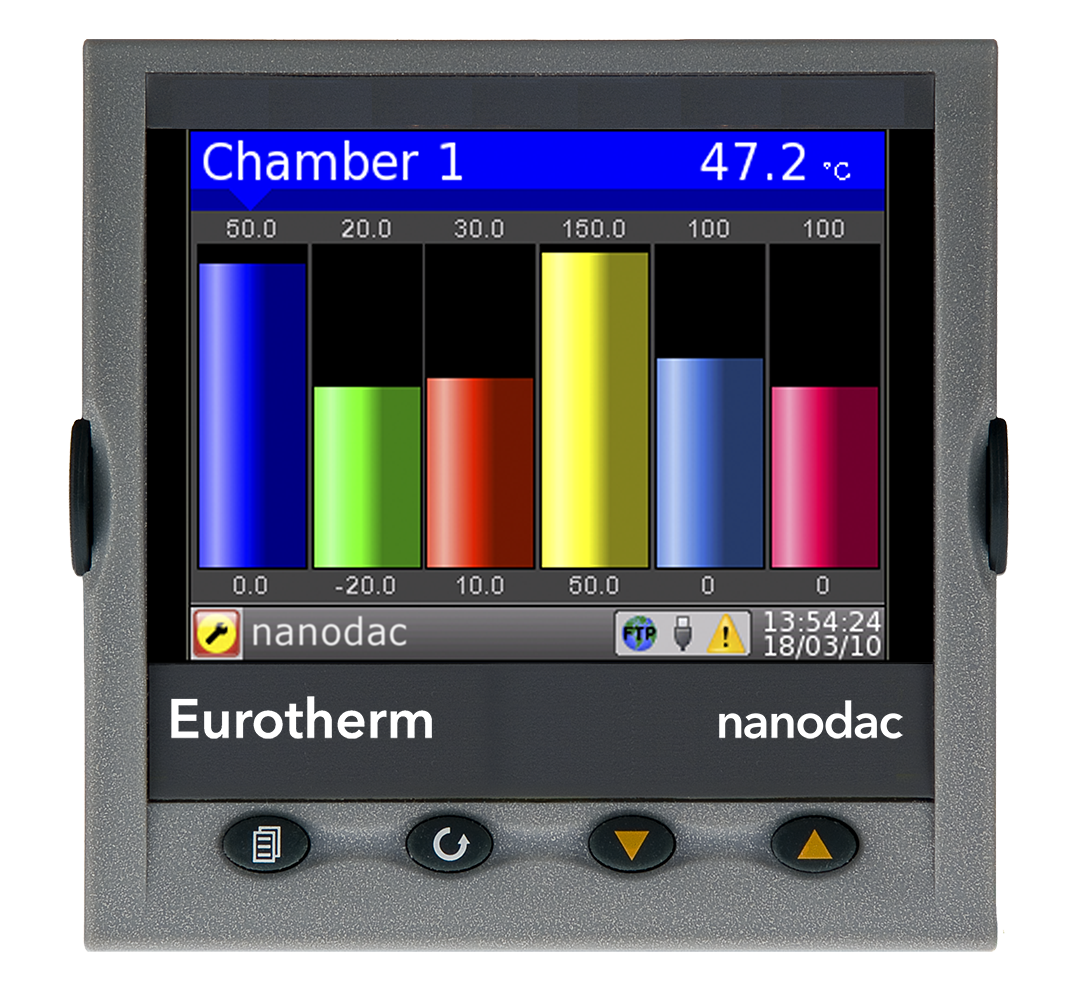 Eurtherm Nanodac display example 1