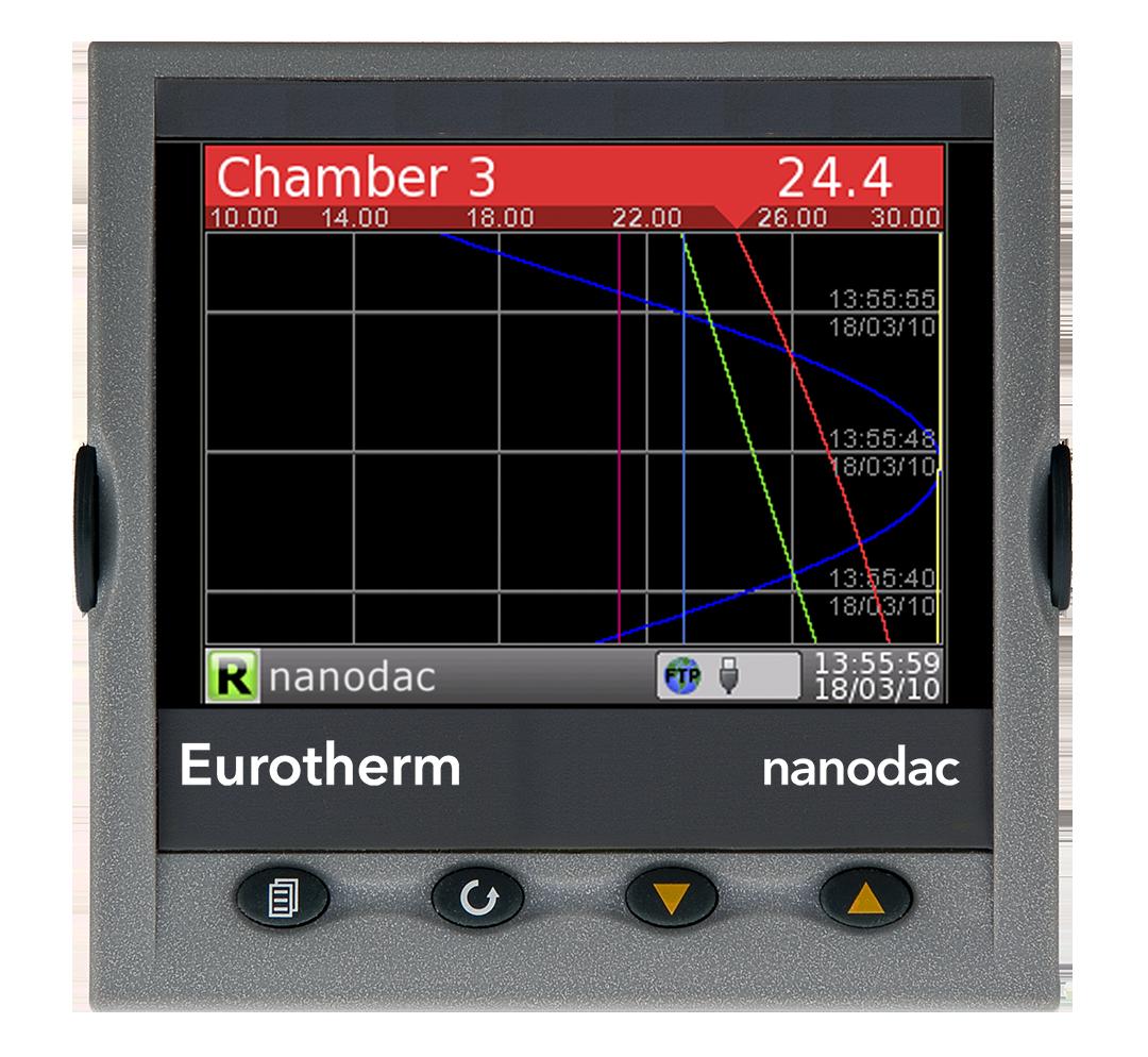 Eurotherm Nanodac display example 2