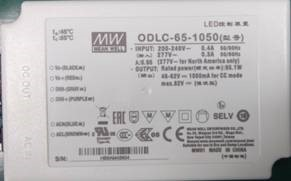 New style MEAN WELL LED driver label