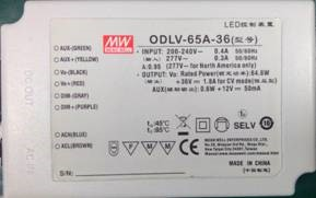 OLD STYLE MEAN WELL LED DRIVER LABEL