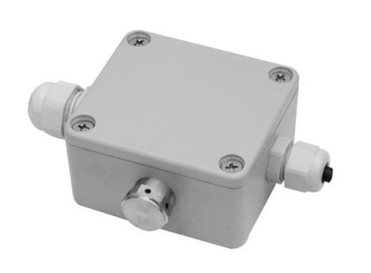 Breathable junction box for hydrostatic transducers