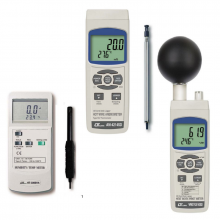 hand held temperature humidity and air flow meters