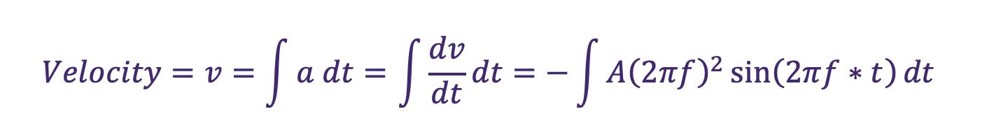 Vibration monitoring equation 13