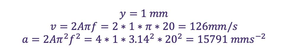 vibration monitoring equation 6